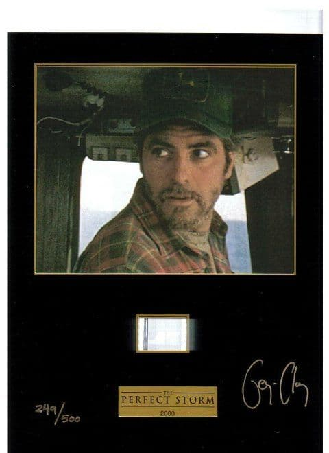 A000 - George Clooney hand signed Perfect Storm cell