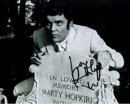 A018 - Kenneth Cope signed 10x8 (grave) Randall & Hopkirk Deceased