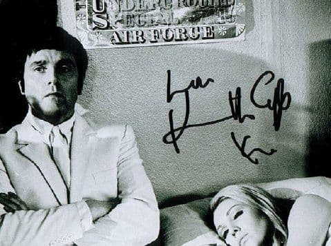 A021 - Kenneth Cope signed 10x8 (bed) Randall & Hopkirk Deceased