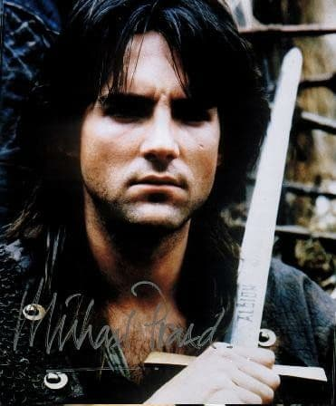 A059 - Michael Praed Signed 10x8 Robin Of Sherwood