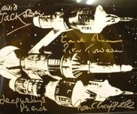 A127 - BLAKES 7 Liberator 10x8 Photo Signed by 5 of the cast