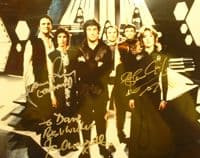 A143 - BLAKES SEVEN - Signed BY three 10x8 Photo
