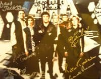 A146 - BLAKES SEVEN Signed by all seven plus Servalan 10x8 Photo
