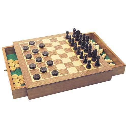 Chess & Draughts Set - House Of Marbles