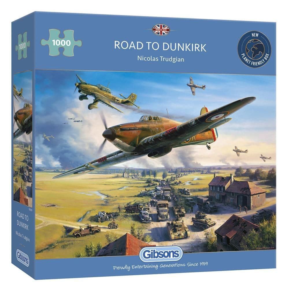 Gibsons G6299 ROAD TO DUNKIRK 1000pc Jigsaw Puzzle