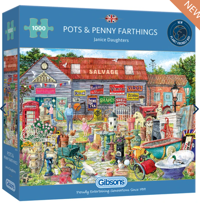 Gibsons G6318 Pots & Penny Farthings 1000pc Jigsaw