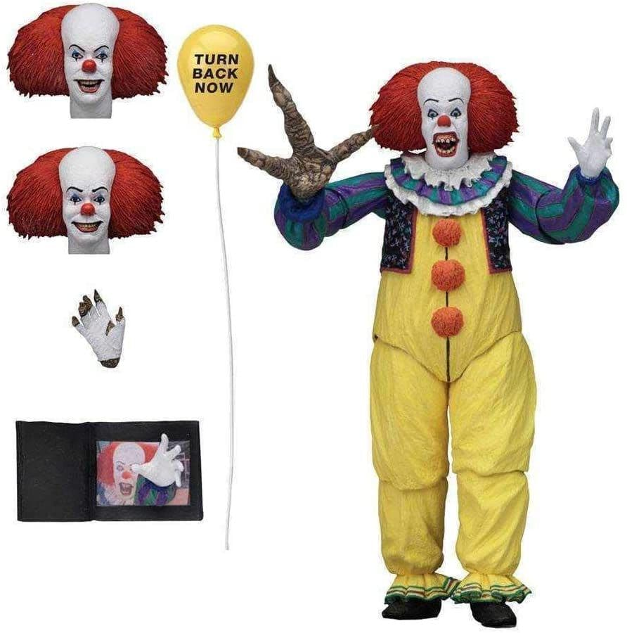 """IT 45471 7"""" 1990 Ultimate Pennywise Version 2 Figure"""