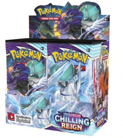 Pokémon TCG: Sword and Shield 6 Chilling Reign Booster Box
