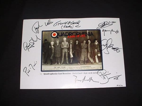 Quadrophenia reunion 2007 Poster Image Signed - SOLD OUT