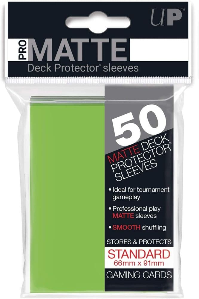 Ultra Pro SLEEVES 50 d12 Card Game (Lime Green)