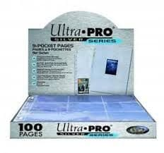 ULTRAPRO Silver 9 POCKET PAGES (Box of 100)