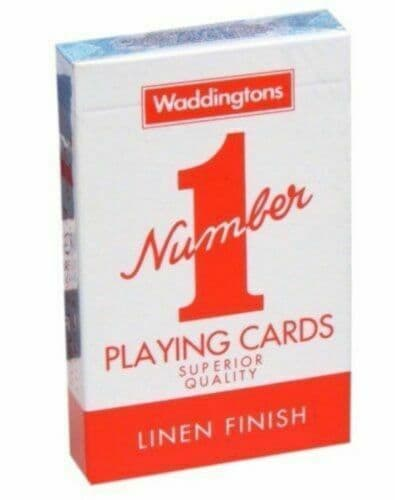 Waddingtons No.1 Classic Playing Cards Deck RED