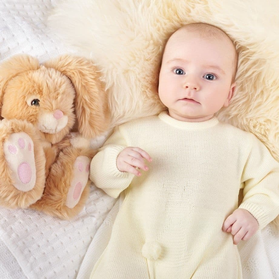A2981L Bobtail Bunny Knitted Onesie