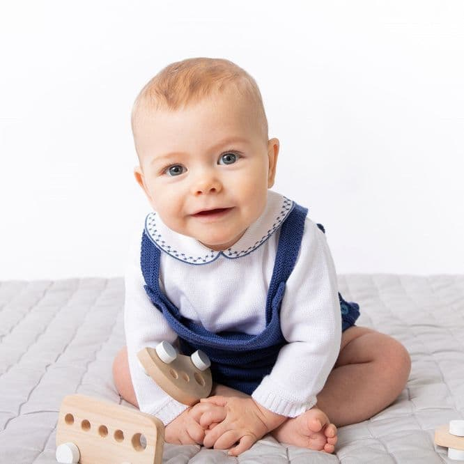 A3803  Boys knitted Romper & Top