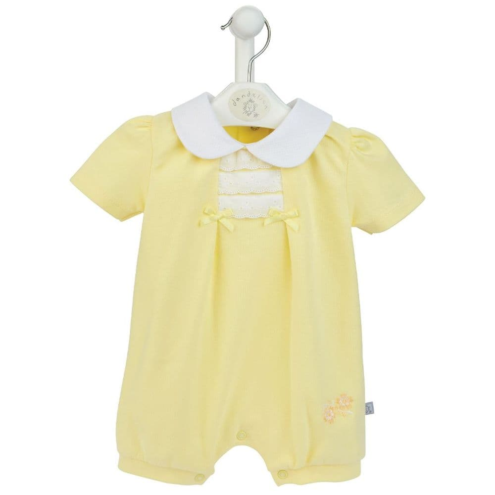 AV6090 Girls Cotton Pique Romper