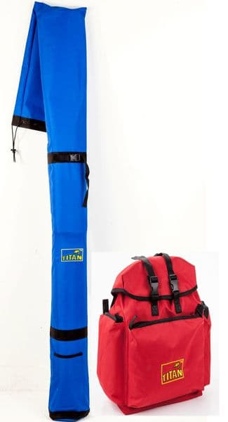 BUNDLE 1 - BRAND NEW TITAN MATCHMAN ™ Original Rucksack & XL Rod Carrier
