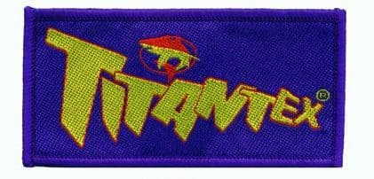 TITAN RETRO TITANTEX Sew on Badge