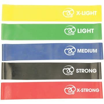 Fitness Mad (Set Of 5) Mini Power Loops Resistance Bands