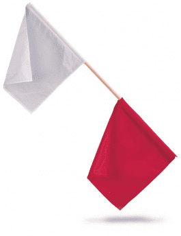 Officials Flags (Red/White)