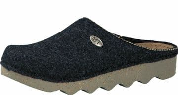 MARCO TOZZI 27500 Ladies Felt Clog Mule Slippers with Leather insole NAVY