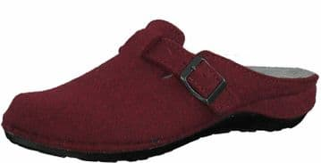 MARCO TOZZI 27501 Ladies Wool Clog Mule Slippers with Leather insole CHIANTI