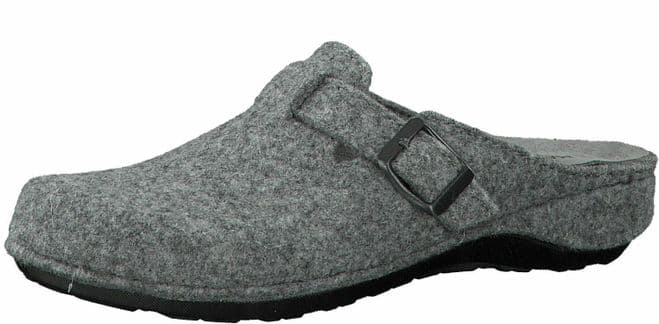 MARCO TOZZI 27501 Ladies Wool Clog Mule Slippers with Leather insole GREY
