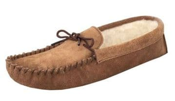 Men's Suede Moccasins with a Soft Sole TAUPE