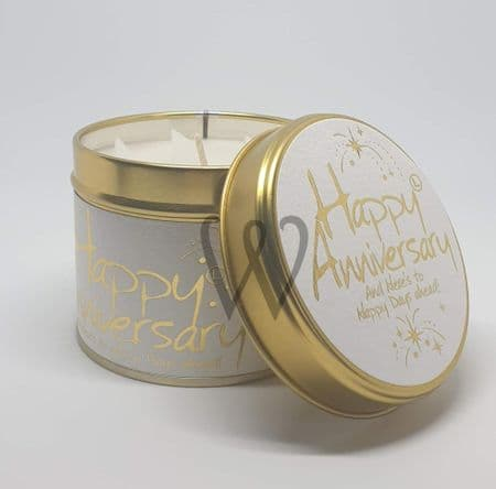 Lily-Flame candle - Happy Anniversary