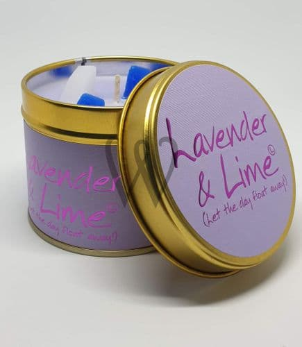 Lily-Flame candle- Lavender and Lime