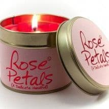 Lily-Flame candle- Rose Petals