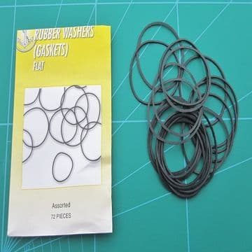 100 Rubber O-Rings Gasket Seals Flat Profile Sizes 18mm to 30mm Mix