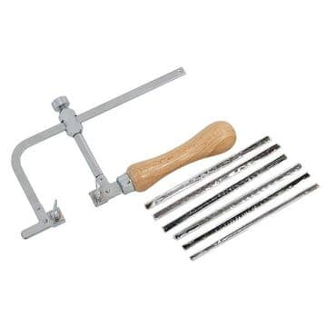 Adjustable Piercing Saw Frame with 144 Cutting Blades