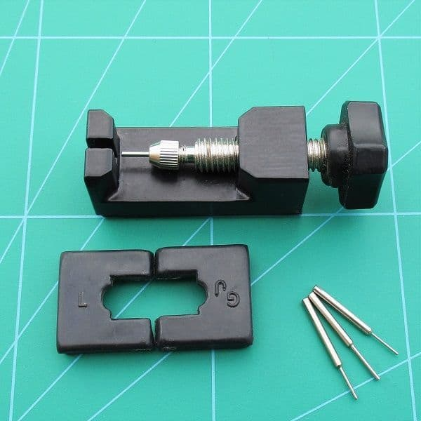 Watch Bracelet Link Pin Removal Tool For Bracelets up to 25mm Wide Plus 4 Pins