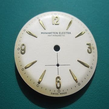 Manhatten Elecra Watch Dial and Sub Second Dial New Old Stock Swiss Made