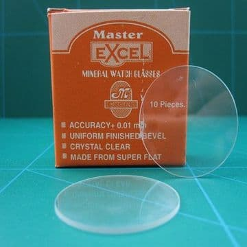 Single Flat Mineral Watch Glasses 1mm Thickness Sizes from 35.50 up to 50.00mm
